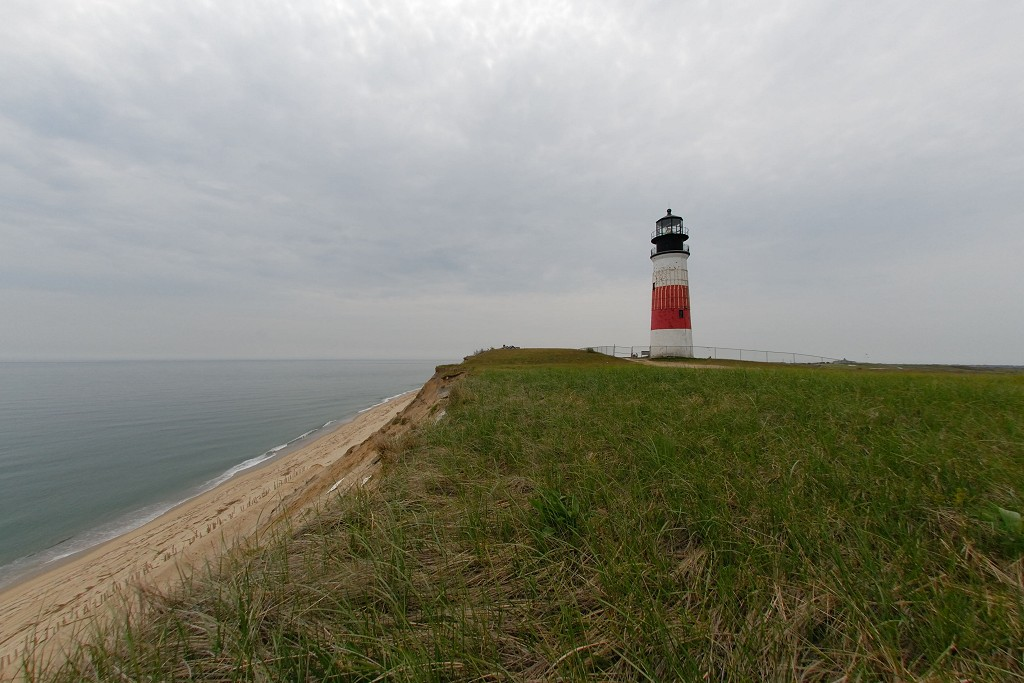 Sankaty Head Lighthouse and cliffs - Siasconset, Massachusetts
