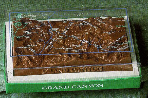 Topographic Map Grand Canyon.Grand Canyon Chocolate Topographic Map