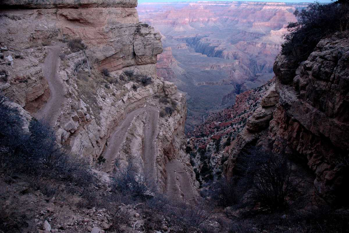 Upper Switchbacks Of South Kaibab Trail