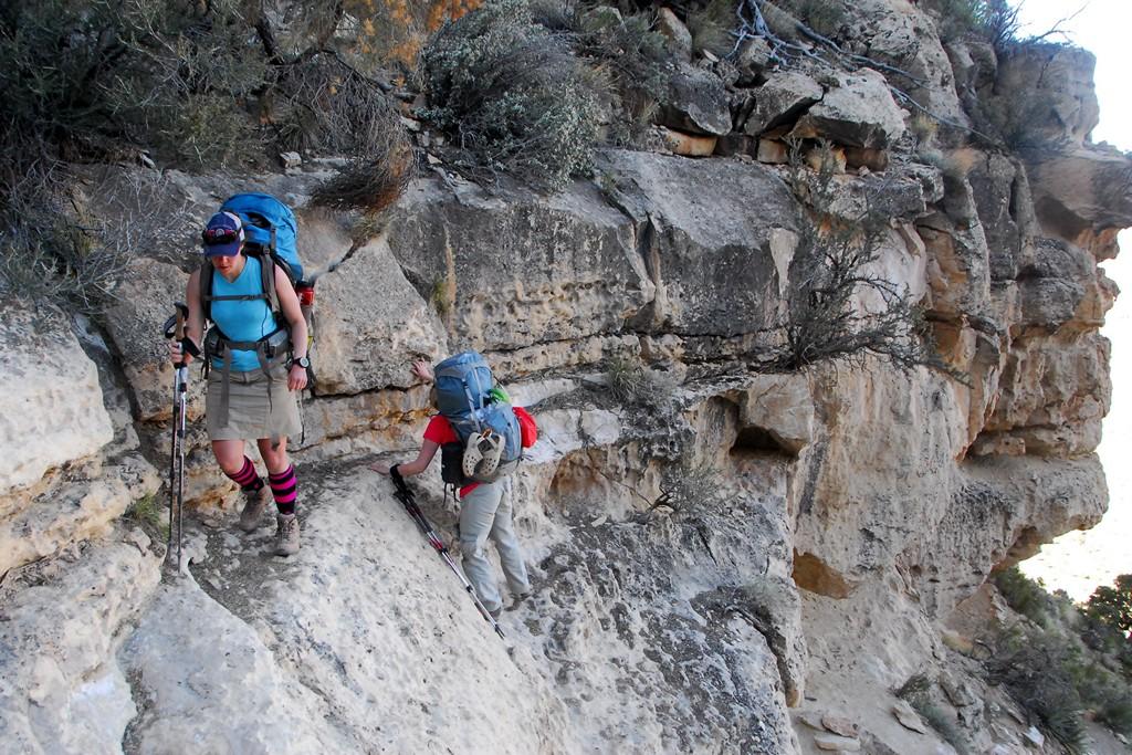 Climbing The Small Coconino Cliff Bill Hall Trail Grand