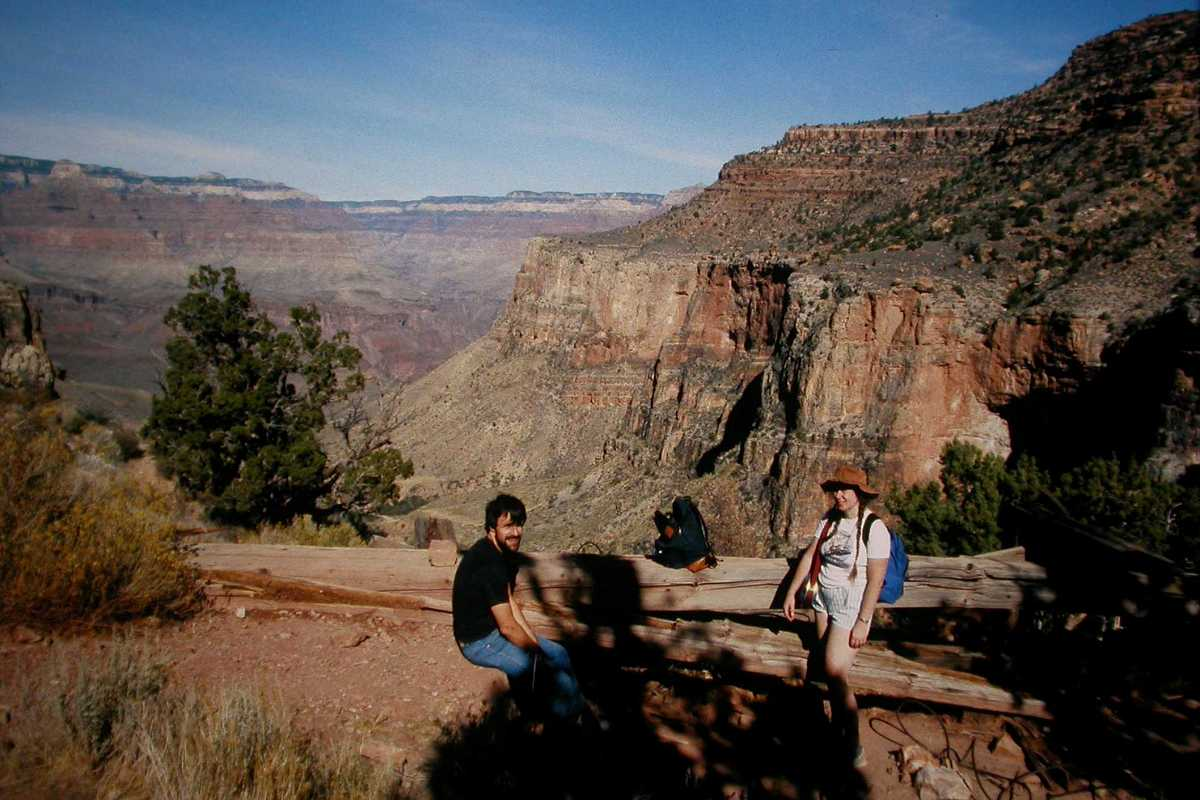 View From Behind The Three Mile Rest House Bright Angel Trail